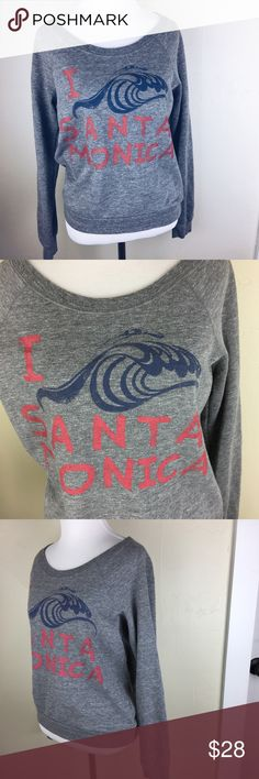 American Eagle I love Santa Monica sweatshirt Preloved. Good condition. Size medium. Super cute oversized sweatshirt. American Eagle I love Santa Monica sweatshirt. American Eagle Outfitters Tops Sweatshirts & Hoodies