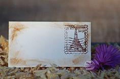 """""""Vintage Párizs"""" ültetőkártya, Dekoráció, Esküvő, Ünnepi dekoráció, Esküvői dekoráció, Papírművészet, Meska"""