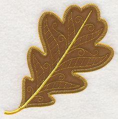Autumn Oak Leaf (Heirloom Applique) design (Y4583) from www.Emblibrary.com