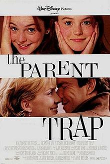 The Parent trap is a great movie about two girls who are twins who are separated at birth by their divorced parents, then they find eachother at camp and decide to swap places