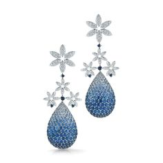 Sapphire & diamond earrings from the Pinwheel Collection