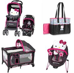 Hello Kitty Nursery, Hello Kitty Baby, Baby Girl Strollers, Baby Bouncer, Baby Doll Nursery, Baby Dolls, Baby Room, Baby Doll Accessories, Baby Bundles