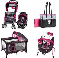 Hello Kitty Nursery, Hello Kitty Baby, Baby Girl Strollers, Baby Bouncer, Toddler Dolls, Baby Dolls, Baby Doll Nursery, Baby Doll Accessories, Baby Bundles