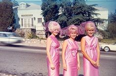 1950's Pink Bridesmaids, oh that hair!!!!!!