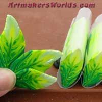 Lime Green Feather cane