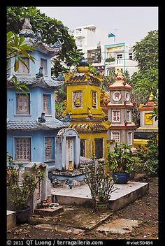Tombs, Giac Lam Pagoda. Ho Chi Minh City, Vietnam