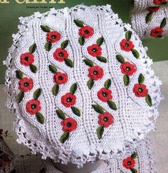 Crochet bathroom seat cover ♥️LCB-MRS♥️ with diagrams ---- Facilite Sua Arte: Jogo de banheiro 7 - Tampo do vaso