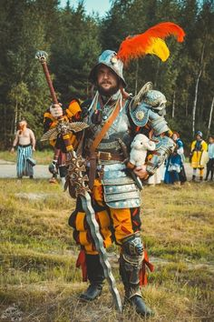 Warhammer Fantasy's Averland Imperial Captain cosplay by Lordbobor Larp Armor, Knight Armor, Medieval Armor, Medieval Fantasy, Renaissance, Warhammer Fantasy, Fantasy Inspiration, Character Design Inspiration, Dnd Characters
