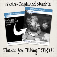 Free 3x4 Instagram Card Template for Project Life by Traci Reed Designs