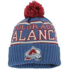 on sale 9890f a576a Reebok Colorado Avalanche Navy Team Cuffed Knit Hat with Pom