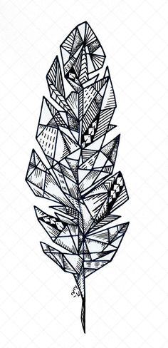 Feather tattoo template, many strokes, rhombuses, polygons - Origami Tattoo - tattoos Origami Tattoo, Feather Tattoos, Forearm Tattoos, Sleeve Tattoos, Tattoo Bird, Tattoo Wolf, Inca Tattoo, Trendy Tattoos, New Tattoos