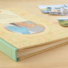 A4 Handbound photo album with customized covers /  Álbum de fotos formato A4, encuadernado a mano con portadas personalizadas