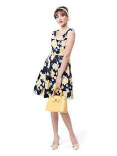 Oh Me Oh My Dress | Navy & Multi | Dress
