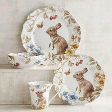 I absolutely love this dinnerware.Sofie the Bunny Dinnerware Porcelain Dinnerware, Dinnerware Sets, Easter Tablecloth, Easter Table Decorations, China Patterns, Inspired Homes, Easter Bunny, Happy Easter, Farmhouse Decor