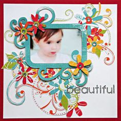We R Memory Keepers White Out Frenzy Layout: Beautiful