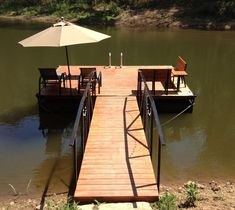 POND AND LAKE DOCKS We custom build floating docks and tailor them to each customer's unique preferences and budget. We can incorporate a variety of accessories and architectural styles to ensure you get the dock you desire. You can choose […] Building A Dock, Lake Landscaping, Landscaping Ideas, Lake Dock, Docks Lake, Boat Dock, Farm Pond, Haus Am See, Floating Dock