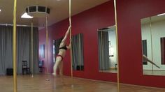 Carlie Hunter 2 ways into the sneaky V. #poledance #poletricks #poledancetutorial