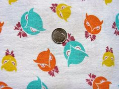 Vintage  Feedsack Feed Sack Cotton NOVELTY Fabric  by anne8865