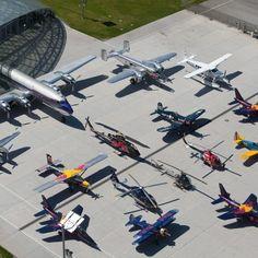 Red bulls vintage aircraft collection - Red Bull Hangar 7 #redbull