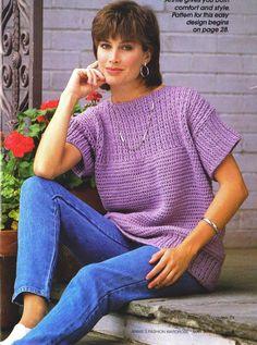 Crochet Crochet Purple Oversized Top PATTERN, Digital Download by SassyloveCrochet on Etsy
