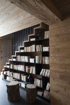 Best home library design stairways 63 ideas Home Library Design, Dream Home Design, Home Interior Design, Interior Architecture, House Design, Design Desk, Modern Staircase, Staircase Design, Traditional Home Offices