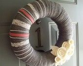 Yarn Wreath Felt Handmade Door Decoration - Vintage Delight 12in.  Why make it when you can buy one of these darling creations.