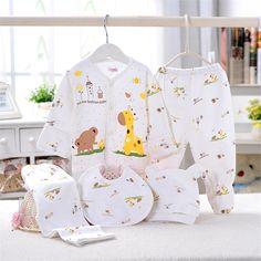 (5 pçs/set) Bebê Recém nascido Definir 0 6 M Bonito Girafa Infantil Conjunto de Roupas de Marca Menino Menina 100% algodão Roupa Interior Dos Desenhos Animados Rosa Azul Amarelo em Conjuntos de roupas de Mãe & Kids no AliExpress.com | Alibaba Group