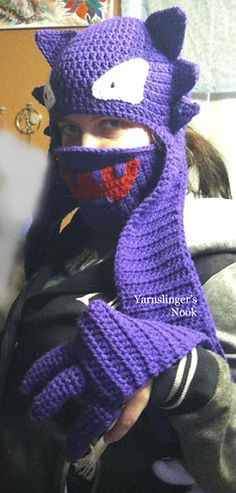 Haunty the Haunter is a beanie and scarf with claws at the end of the scarf. It can be warn as a costume as well as just to look cute and stay warm.