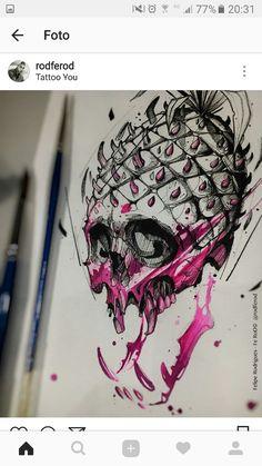 – Felipe Rodrigues tattoo – Graffiti World Tattoo Sketches, Drawing Sketches, Tattoo Drawings, Cool Drawings, Body Art Tattoos, Art Et Design, Desenho Tattoo, Dope Art, Skull Art