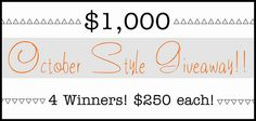 Not Dressed As Lamb - 40+ Style: $1000 International Giveaway | Four Winners, $250 Each