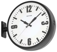 rhythm double sided station clock with double face cmg511nr02 29cm