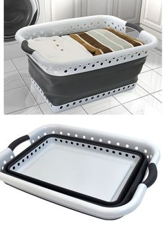 This space saving Collapsible Laundry Basket will make doing laundry a breeze. This large basket holds about 2 full loads of laundry. Collapses flat for easy storage. Home Living, Tiny Living, Living Room, Collapsible Laundry Basket, Laundry Basket Storage, Laundry Cart, Rv Organization, Organizing Ideas, Rv Storage