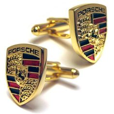 Porsche Gold Cuff Links Stunning Extra