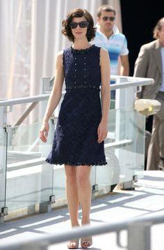 Anna Mouglalis in blue Chanel