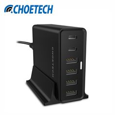 [USB Type C Charger]CHOETECH 55Watt Multi USB Charging Station with Holder for iPhone,Nexus 5X,Nexus 6P,Lumia 950/950XL and More