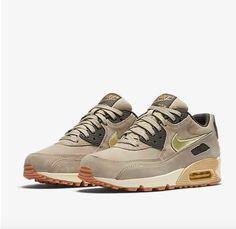 pretty nice 99da1 649dd NIKE WOMENS AIR MAX 90 METALLIC GOLD GREEN BROWN SILVER 818598 200 Nike  Shoes Cheap,