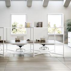 "Fantoni's Hub modular desk unit acts like a ""wall-less box"""