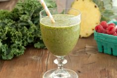 Kale Cucumber Pineapple Smoothie from What's Gaby Cooking. http://punchfork.com/recipe/Kale-Cucumber-Pineapple-Smoothie-Whats-Gaby-Cooking