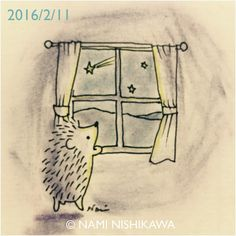 759 #illustration #hedgehog #イラスト #ハリネズミ #illustagram