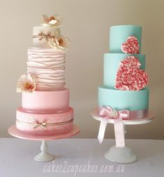 Heart wedding cake inspiration