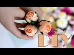 Crepe Paper Flowers Tutorial, Paper Flowers Craft, Giant Paper Flowers, Paper Roses, Flower Crafts, Boquette Flowers, Fabric Flowers, Paper Video, Clay Wall Art