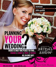 Spring Show Expo Oklahoma City Bridal Show and Wedding Ideas & Inspiration                          www.okbride.com Wedding Show, Bridal Show, Wedding Ideas, Wedding Dj, Wedding Events, Oklahoma City, Norman Oklahoma, Wedding Reception Venues, Spring