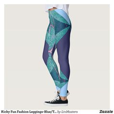Kicky Fun Fashion Leggings-Blue/Teal/Purple Leggings : Beautiful #Yoga Pants - #Exercise Leggings and #Running Tights - Health and Training Inspiration - Clothing for #Fitspiration and #Fitspo - #Fitness and #Gym #Inspo - #Motivational #Workout Clothes - Style AND #comfort can both be possible in one perfect pair of custom #leggings. #Kicky Fun Fashion Leggings-Blue/Teal/Purple Leggings was crafted made with care each pair of leggings is printed before being sewn allowing for #fun and…