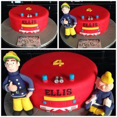 Fireman Sam Simple Fire Engine Cake