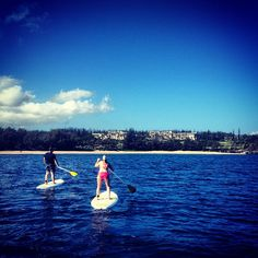 Maui is a beautiful location to try a Stand Up Paddle lesson.
