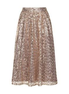 Gold Sequined Midi Skirt - Sassy Fashion Diva