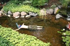 Aquascape Your Landscape: Ponds Aren't Just for Fish. How cool would it be to have a pond we can play in!