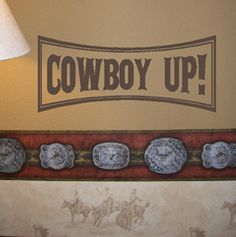 COWBOY UP Kids Wall Decal