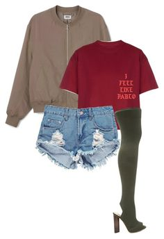 """Untitled #45"" by clynnstyle on Polyvore featuring YEEZY Season 2 and Boohoo"