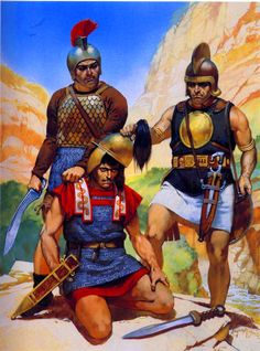 Celtiberian warriors with Roman prisoner